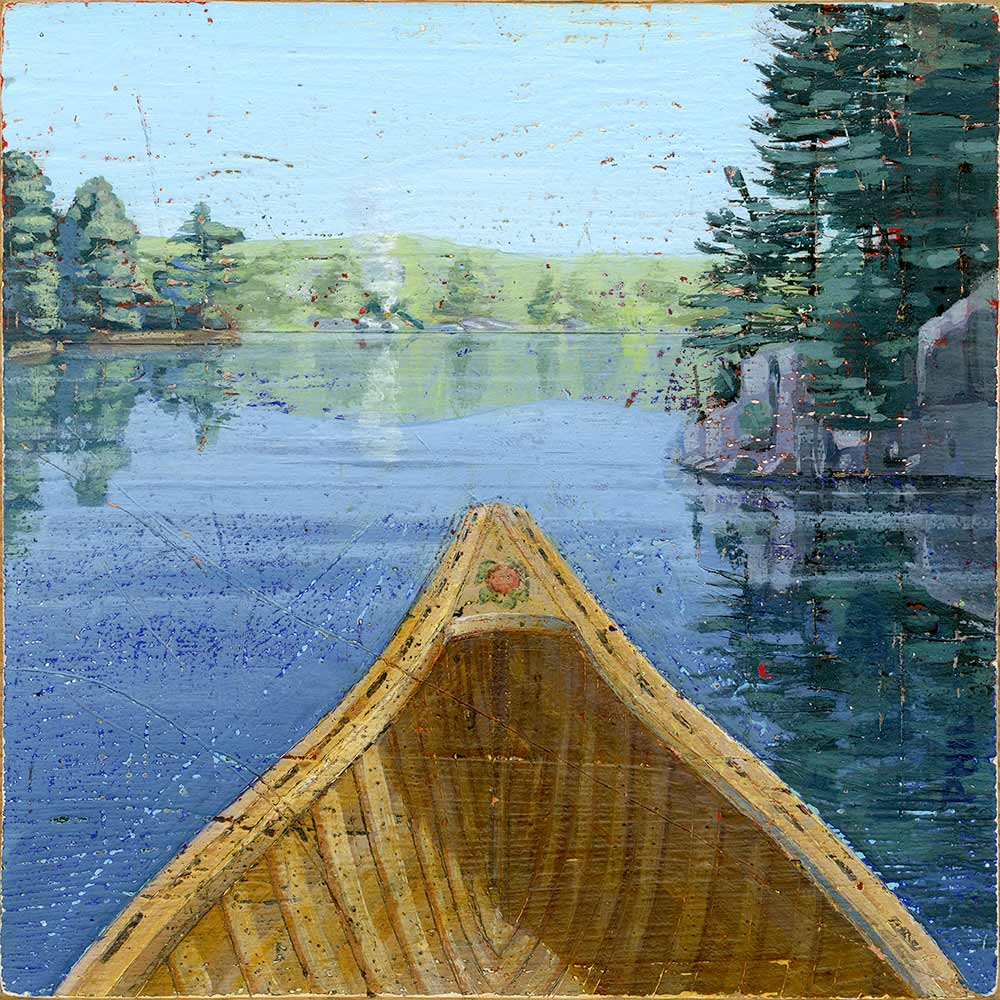 Interior illustration for children's book Me and You and the Red Canoe