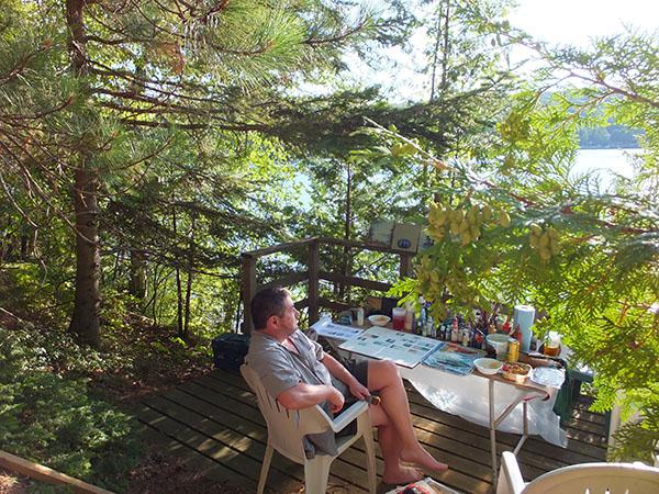 Phil's outdoor studio