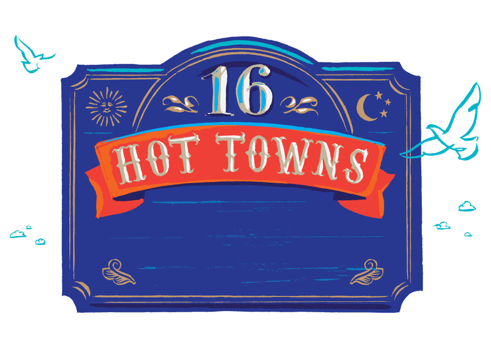 New Jersey Monthly 16 Hot Towns illustration by Greg Stevenson