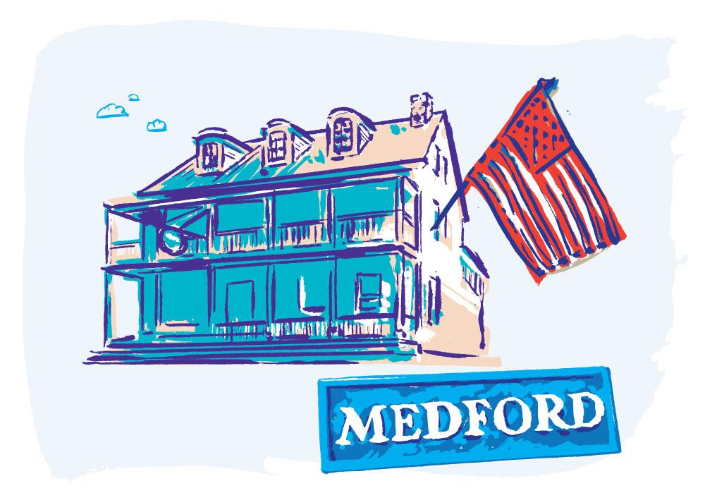 New Jersey Monthly Medford illustration by Greg Stevenson