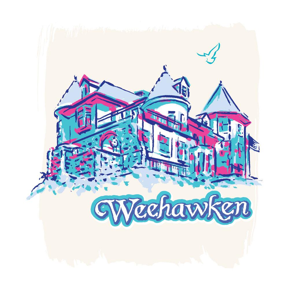 New Jersey Monthly Weehawken illustration by Greg Stevenson