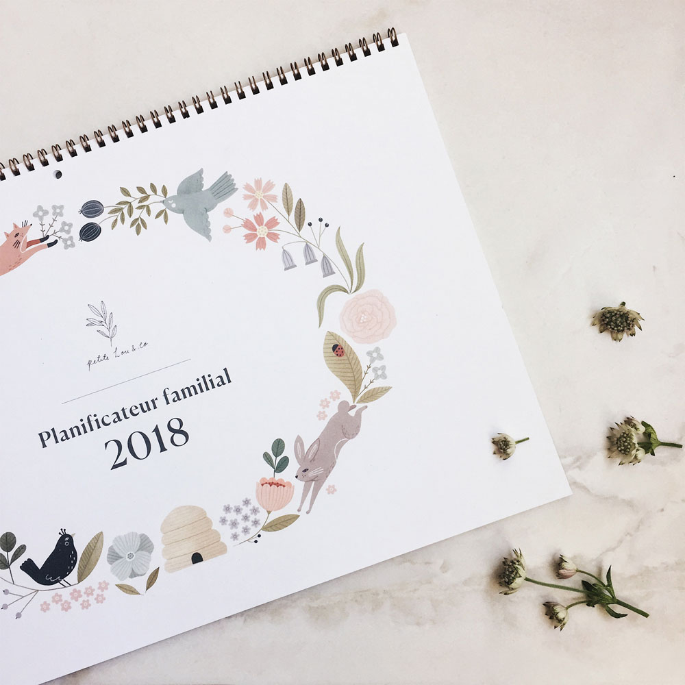 Cover illustration by Clare Owen for Family Planner/Calendar by Petite Lou & Co.