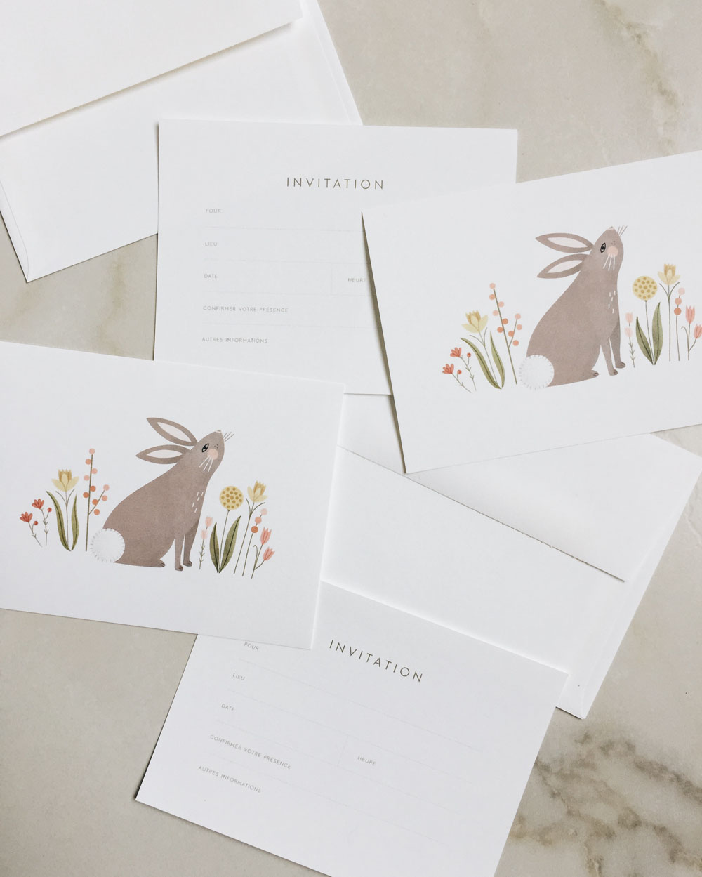 Invitation illustration by Clare Owen for Petite Lou & Co.