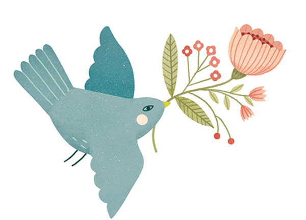 Inside illustration by Clare Owen for Family Planner/Calendar by Petite Lou & Co.