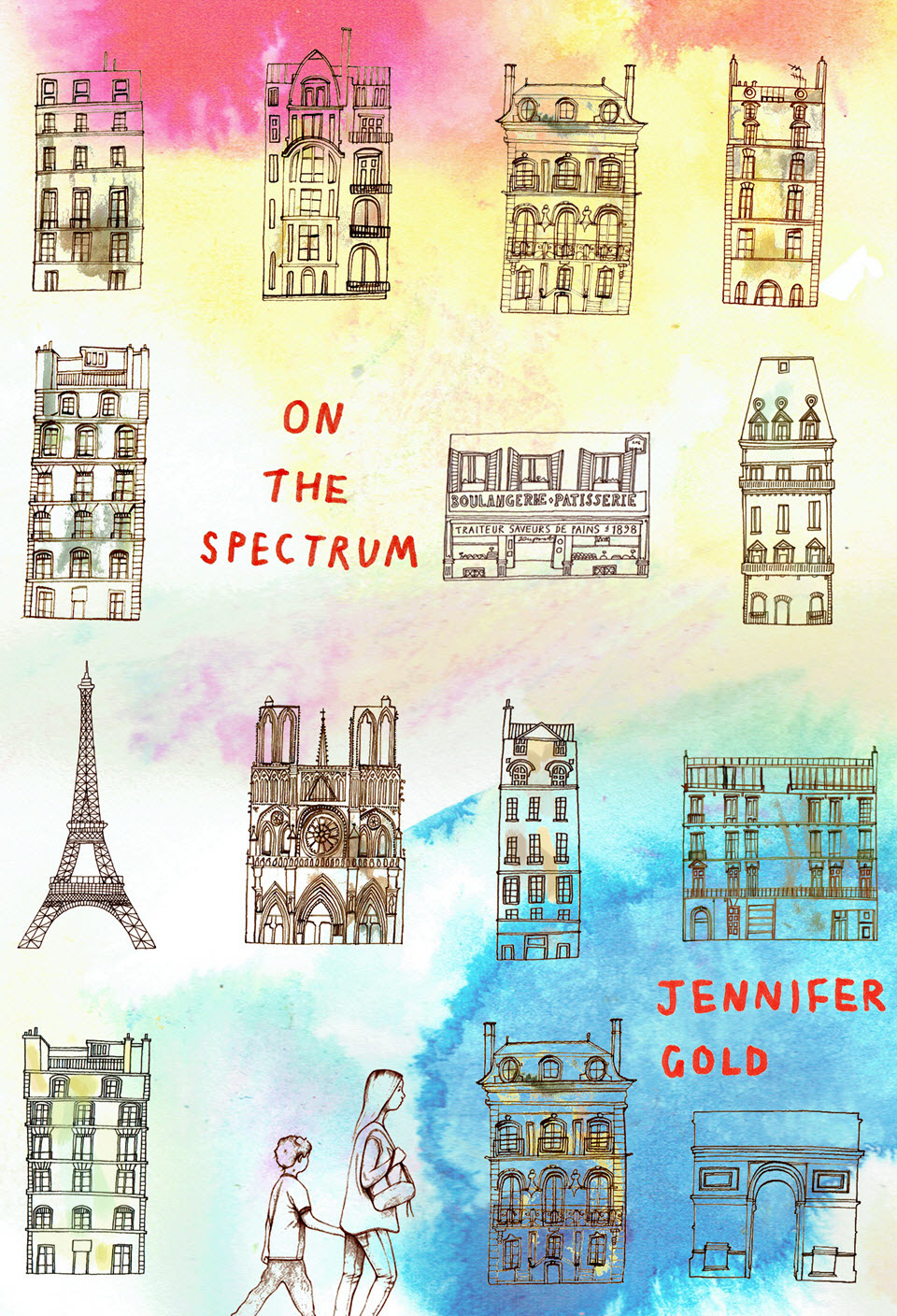 On the Spectrum book bover illustrated by Talya Baldwin for Second Story Press