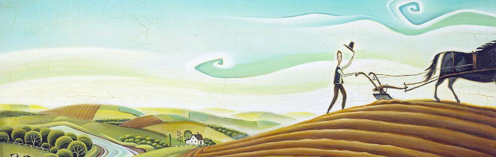 John Deere. Illustration by Tim Zeltner. Represented by i2i Art inc.
