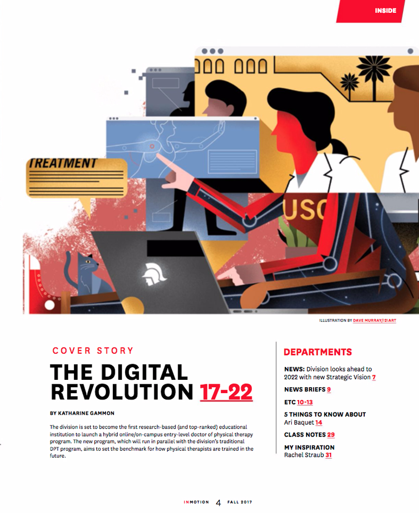Online Learning. Illustration by Dave Murray. Represented by i2i Art Inc.