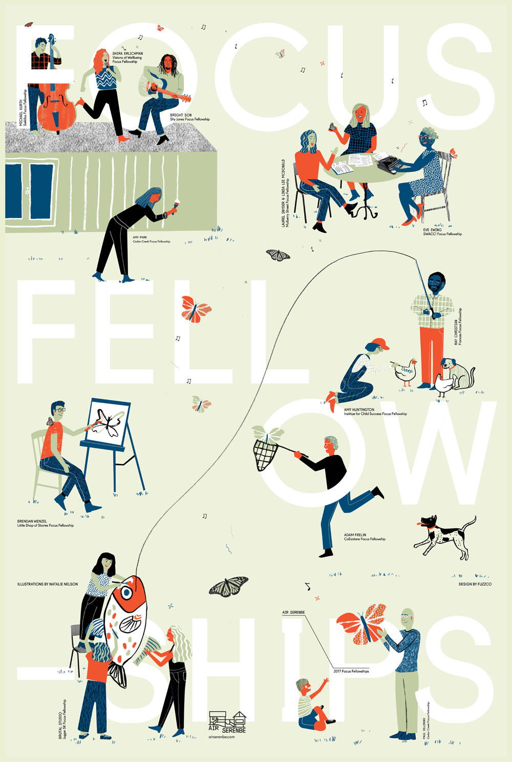 Serenbe Fellowship Poster. Illustration by Natalie Nelson. Represented by i2i Art Inc.