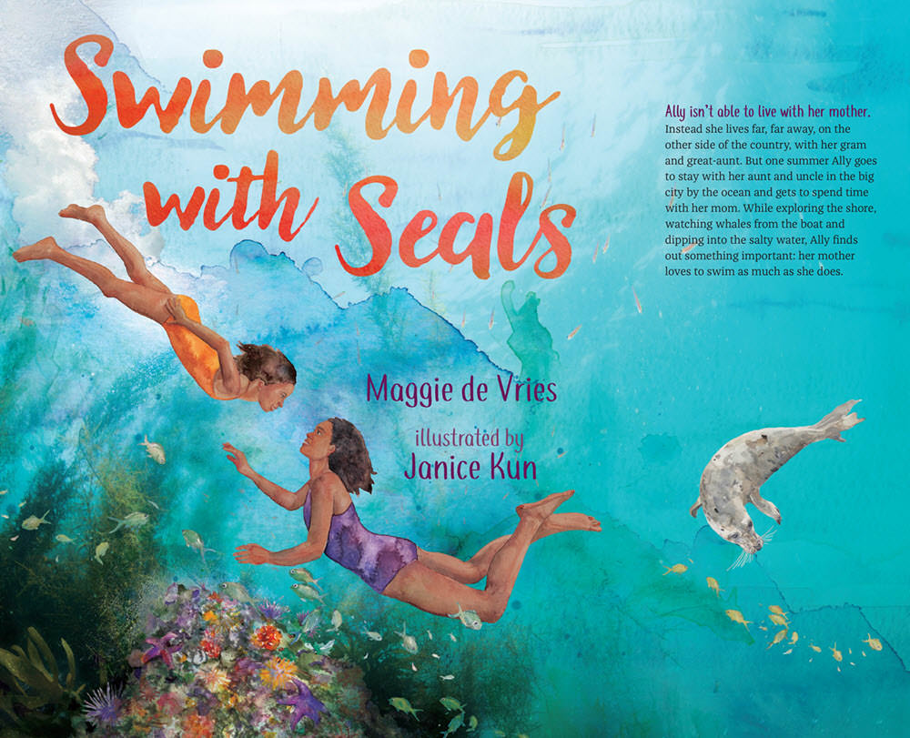 Swimming with Seals - JK371