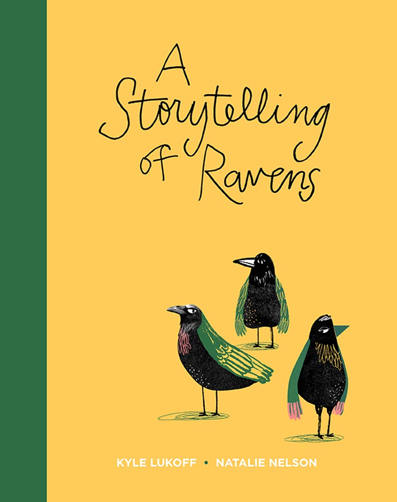 'A Storytelling of Ravens'. Cover illustration by Natalie Nelson.
