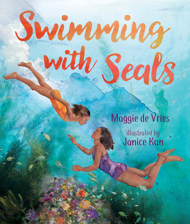 Swimming with Seals cover illustration by Janice Kun.