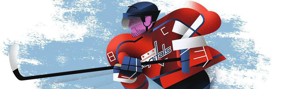 NHL social media. Illustrated by Dave Murray.
