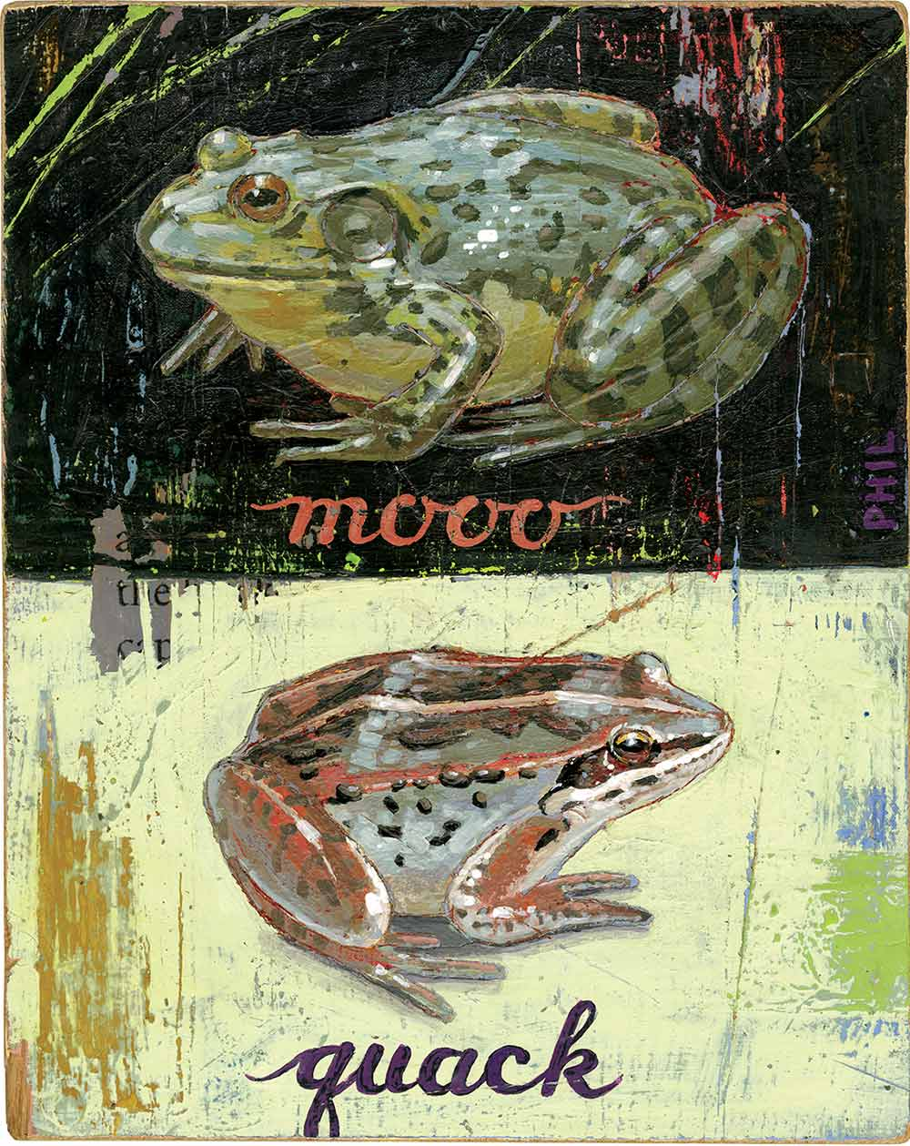 """For the article """"Frogs"""", Spring 2017."""