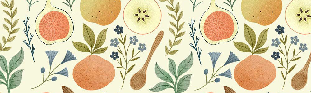 Kitchen Wallpaper. Illustration by Clare Owen.