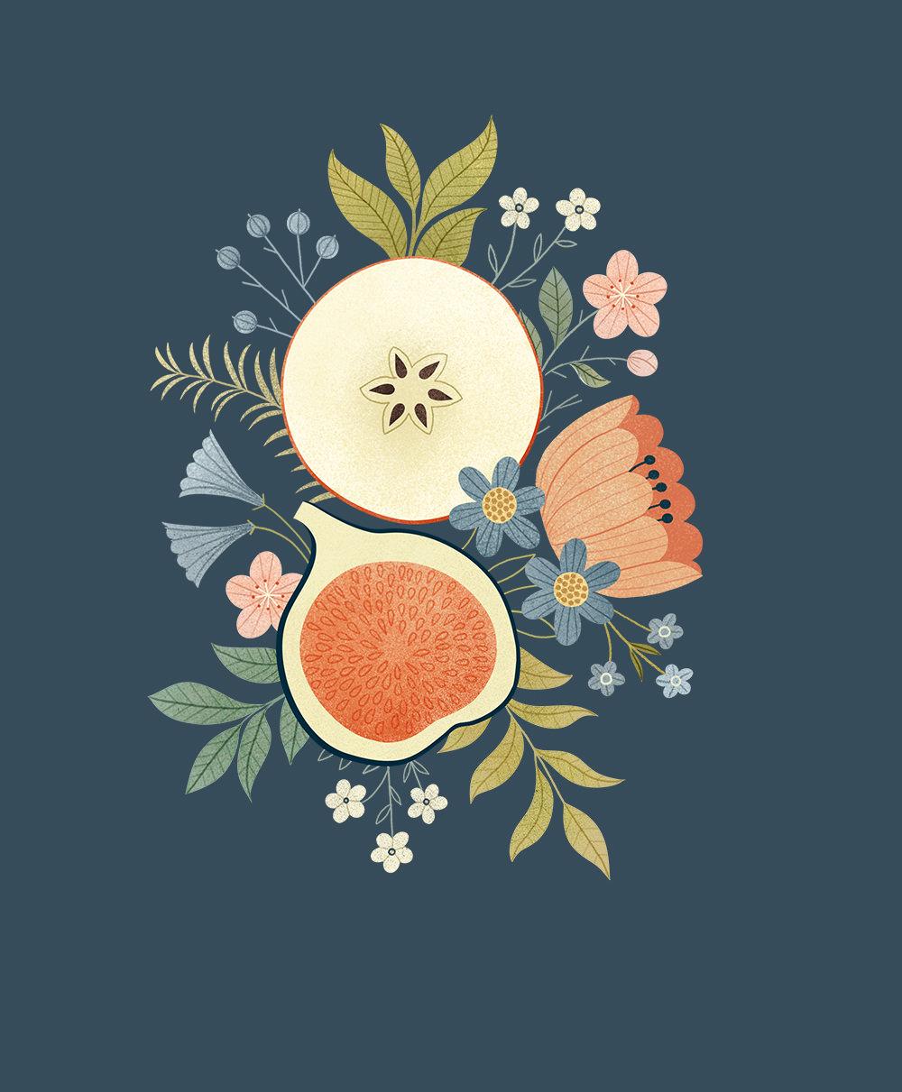 Fruit Bouquet. Illustration by Clare Owen.