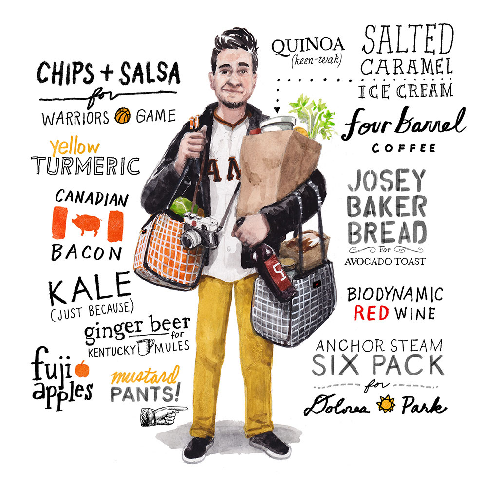 'Foodie on the Go', cover for Edible San Francisco Magazine.