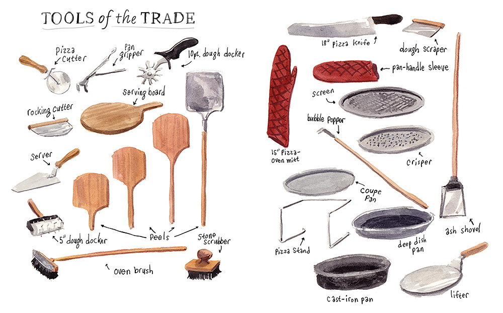 'Tools of the Trade' for the book Pizzapedia published by Ten Speed Press.
