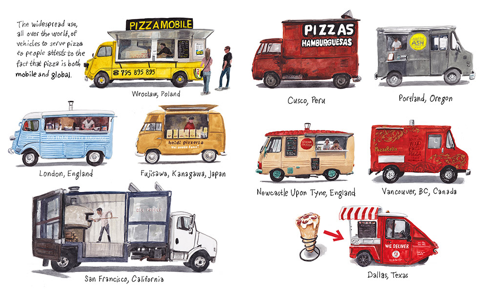 'Mobile Pizza' for the book Pizzapedia published by Ten Speed Press.
