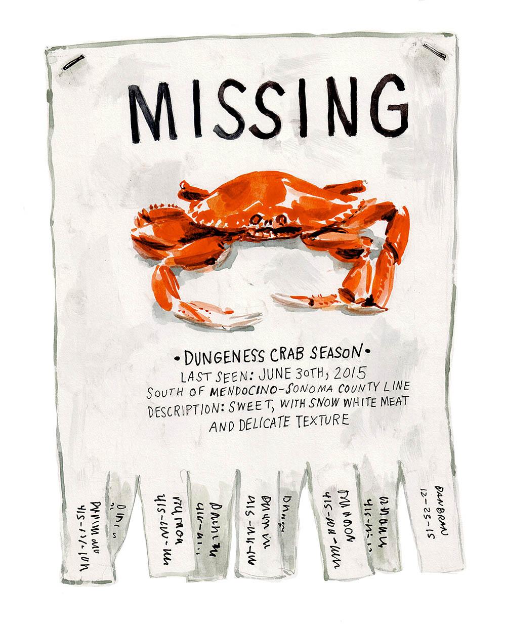 'Missing' for Edible San Francisco magazine.