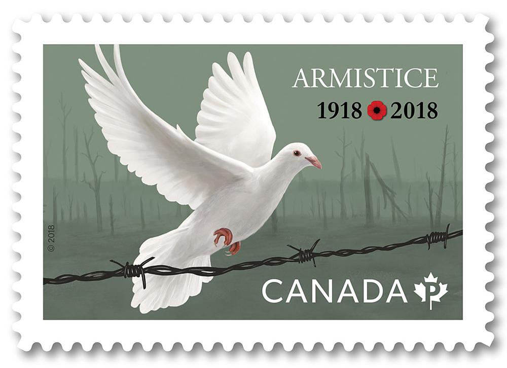 Armistice Commemorative Stamp - JD458
