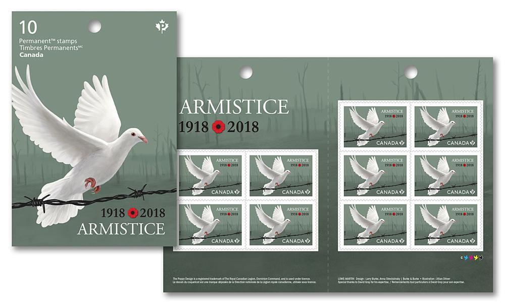 Armistice Stamp - JD458