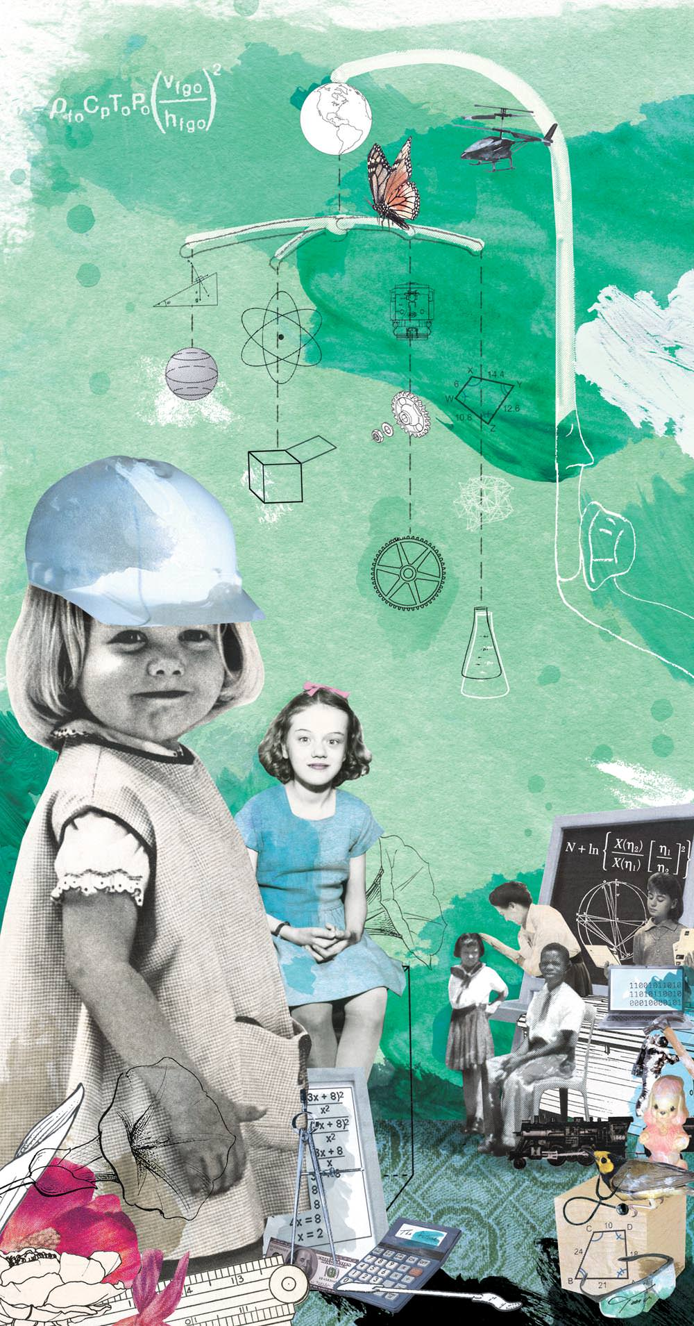"""Getting to Them Early"" for Purdue University's alumni magazine ""Open Minded"" for an article about engaging girls in STEM subjects."