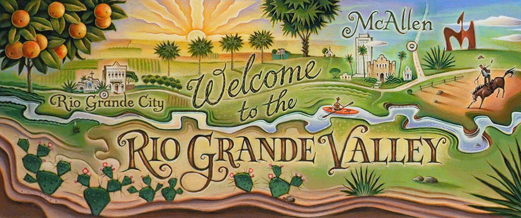 Detail of the Rio Grande Valley illustration
