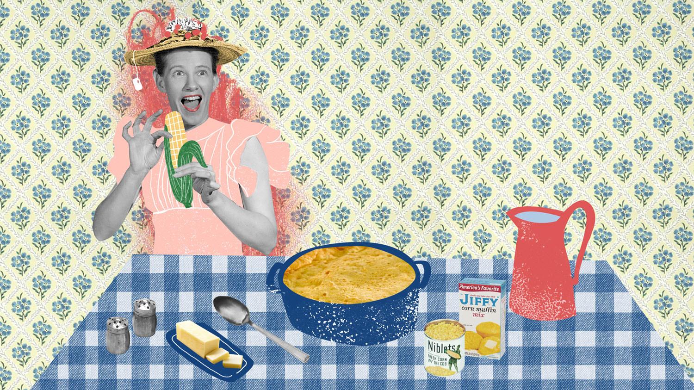 Minnie Pearl's corn pudding