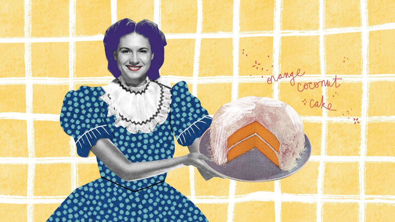 Kitty Well's orange coconut cake