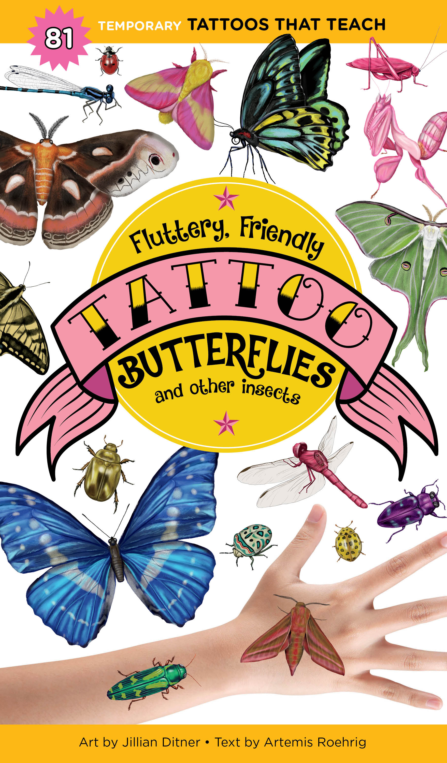 @Jillian Ditner Illustration Fluttery, Friendly Tattoo  Butterflies and other Insects