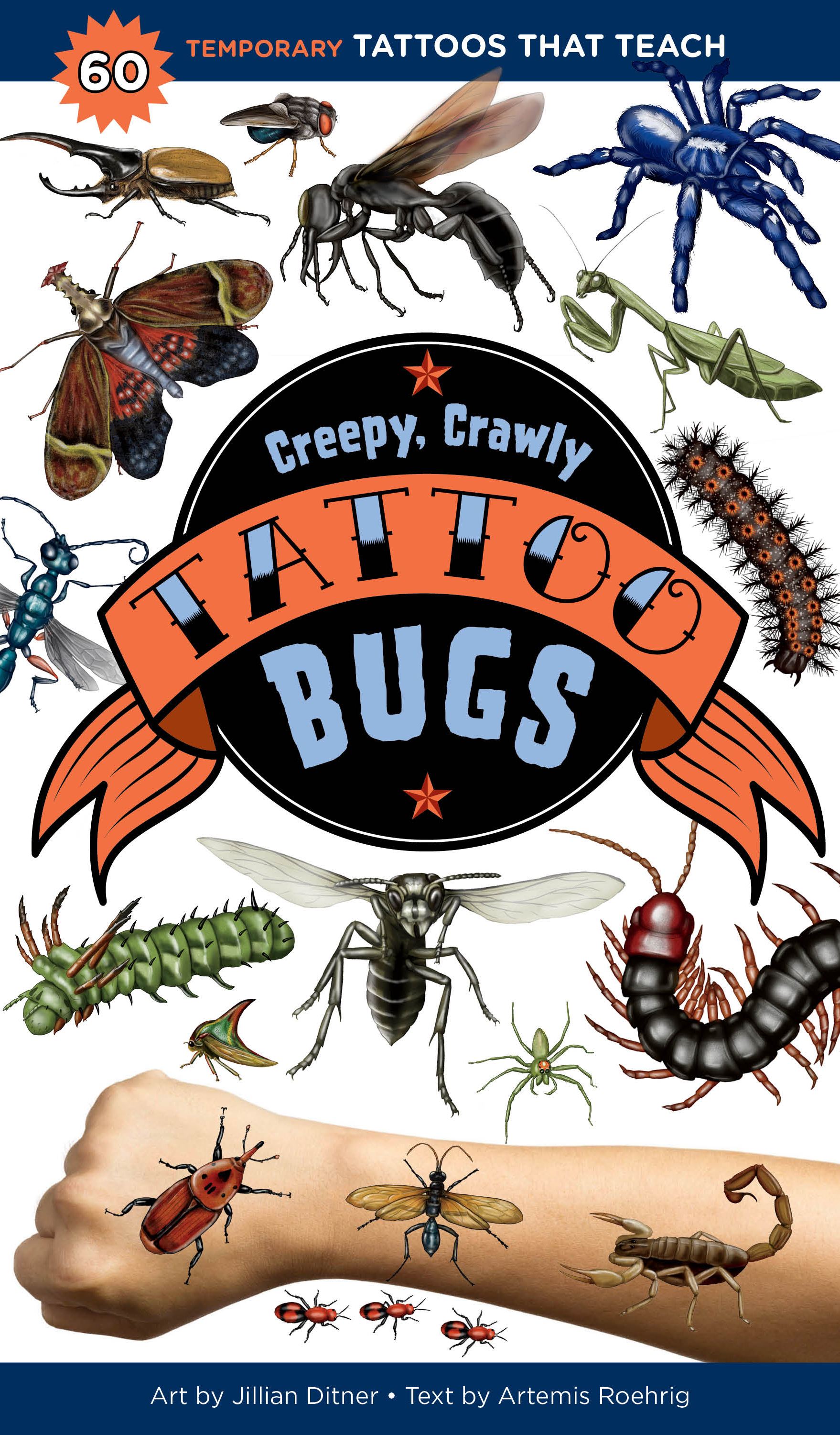 @Jillian Ditner Illustration Creepy, Crawly Tattoo Bugs