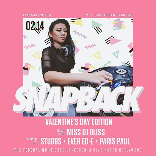 Tonight: Leave your baby mamas and future baby daddies home and jam out to your favorite throwbacks with me @snapback_live NOHO! 😜💗