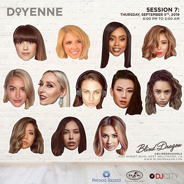 SCHOOL'S BACK IN SESSION 📘  THIS THURSDAY! @DOYENNELA ⚪️WHITE PARTY EDITION ⚪️ ··· Date: Thurs, Sept 5th [Session 7]  Time: 8:00p - 2:00a Location: @BlindDragonLA 🐲 ··· 👯♀️ @DoyenneLA Lineup👯♀️ ··· @ArianaGavrilis @DJPalinaLaDiva @NataliaMoonOfficial @MissDJBliss @DJSophiaLin @DJLeenie @AriesBabyu @DJZenes @DJMissMonday @TheRealDjAK47 🥁 Drums: @FerFuentesDrums , 🎻Violin: @lilia_valerie ··· 👉👉 RSVP Ticket Link in Bio 🎫 tinyurl.com/y2ewjder 💃🏼 ... 🥊 Session 8 🥊 Thurs, October 3rd - Set Calendars! 📆