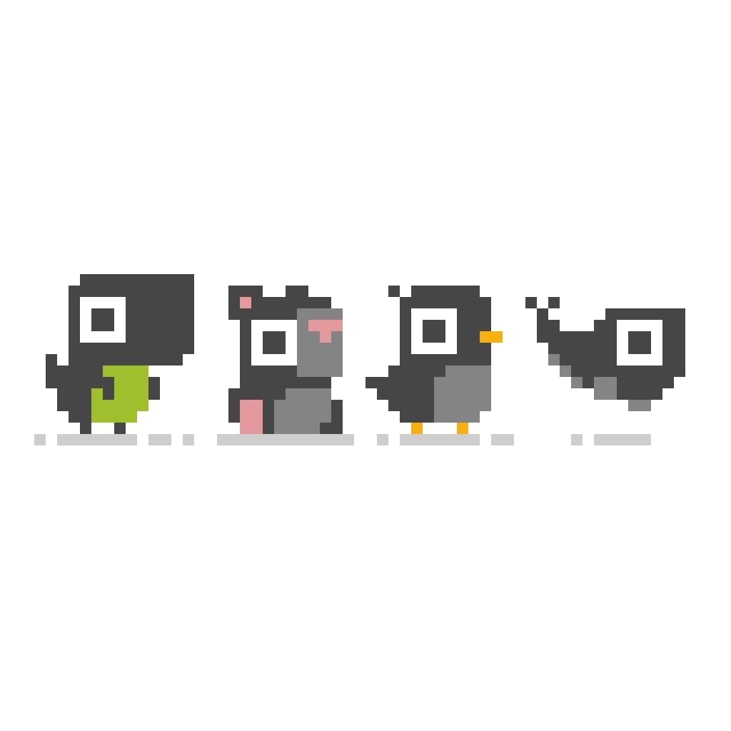 Minimalist animals.