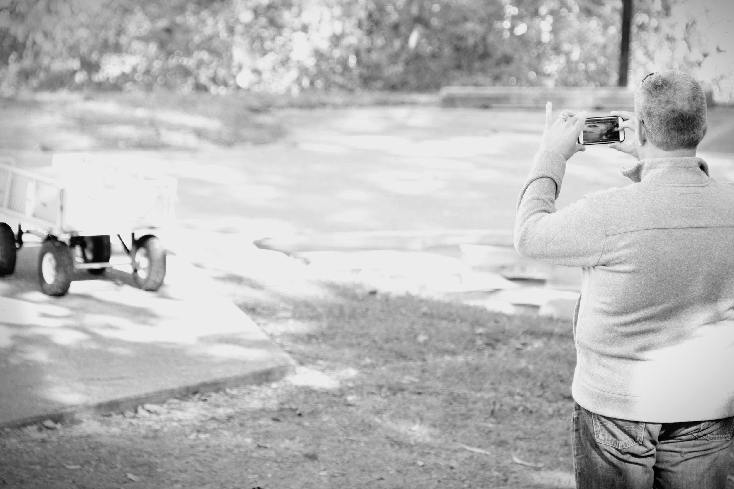 Photo of my photo-taking husband