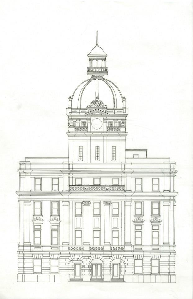 savannah city hall uncolored