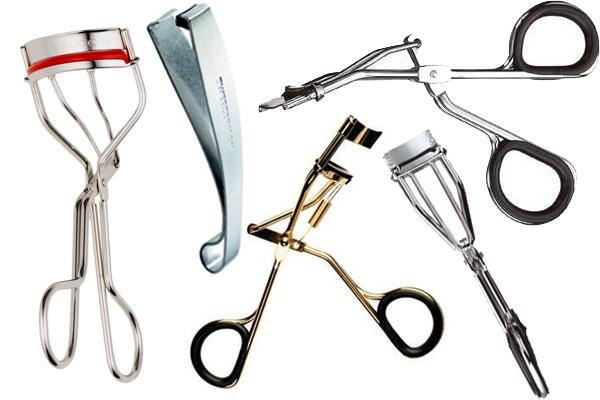 Слева направо: The Eyelash Curler от Kevyn Aucoin, Tweezerman Corner Lash Curler, Revlon Eyelash Curler, Japonesque Detail Eyelash Curler
