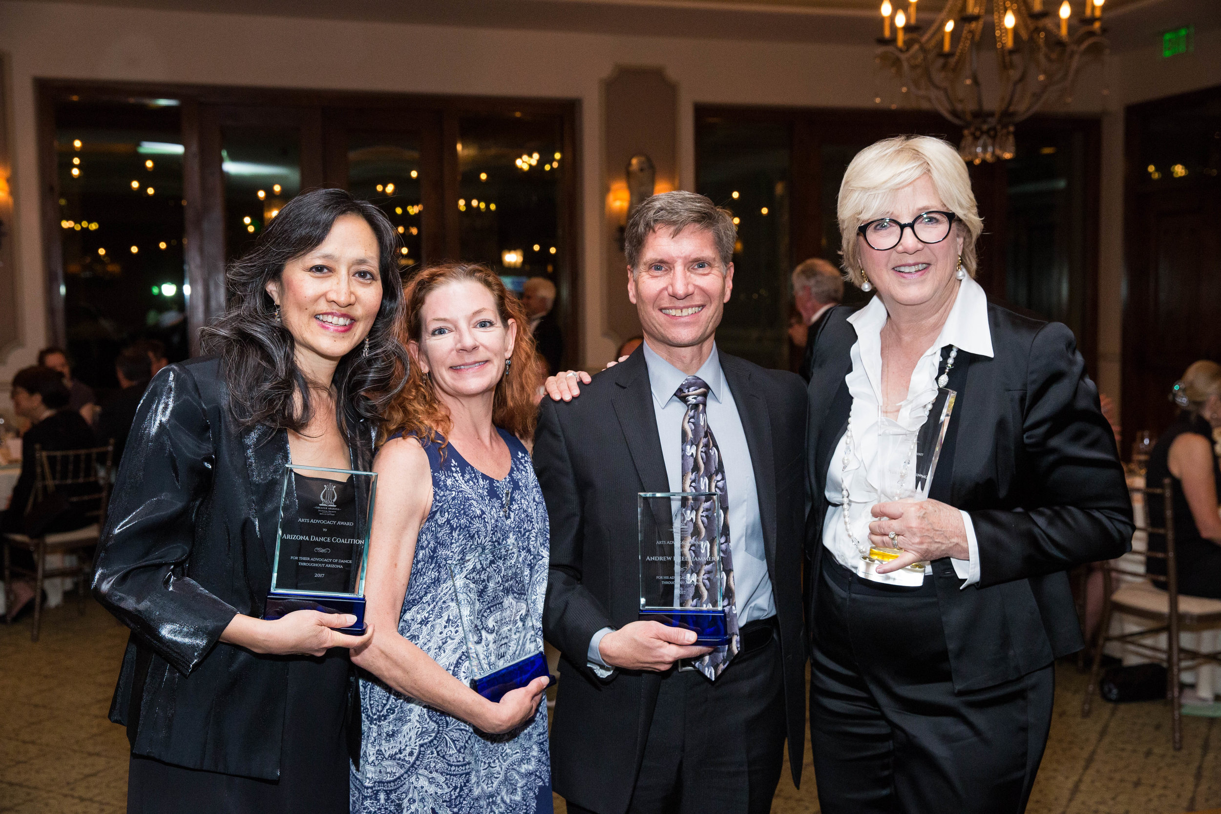 NSALAZ Classical Ballet Award Recipients: Lisa Chow, Gia Firicano, Andrew Needhammer and Carol Schilling