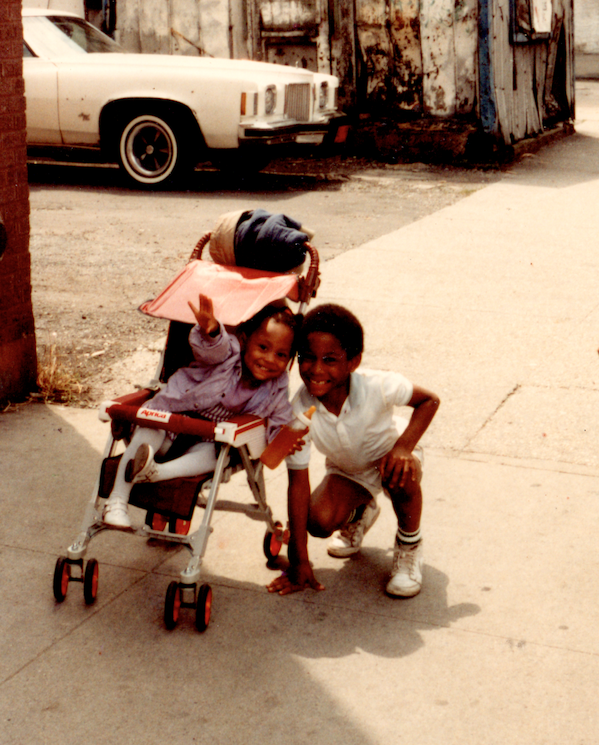 In Picture: Princess (Sister), Ron J (me) //  Phtog: Ron Sr. (Dad)