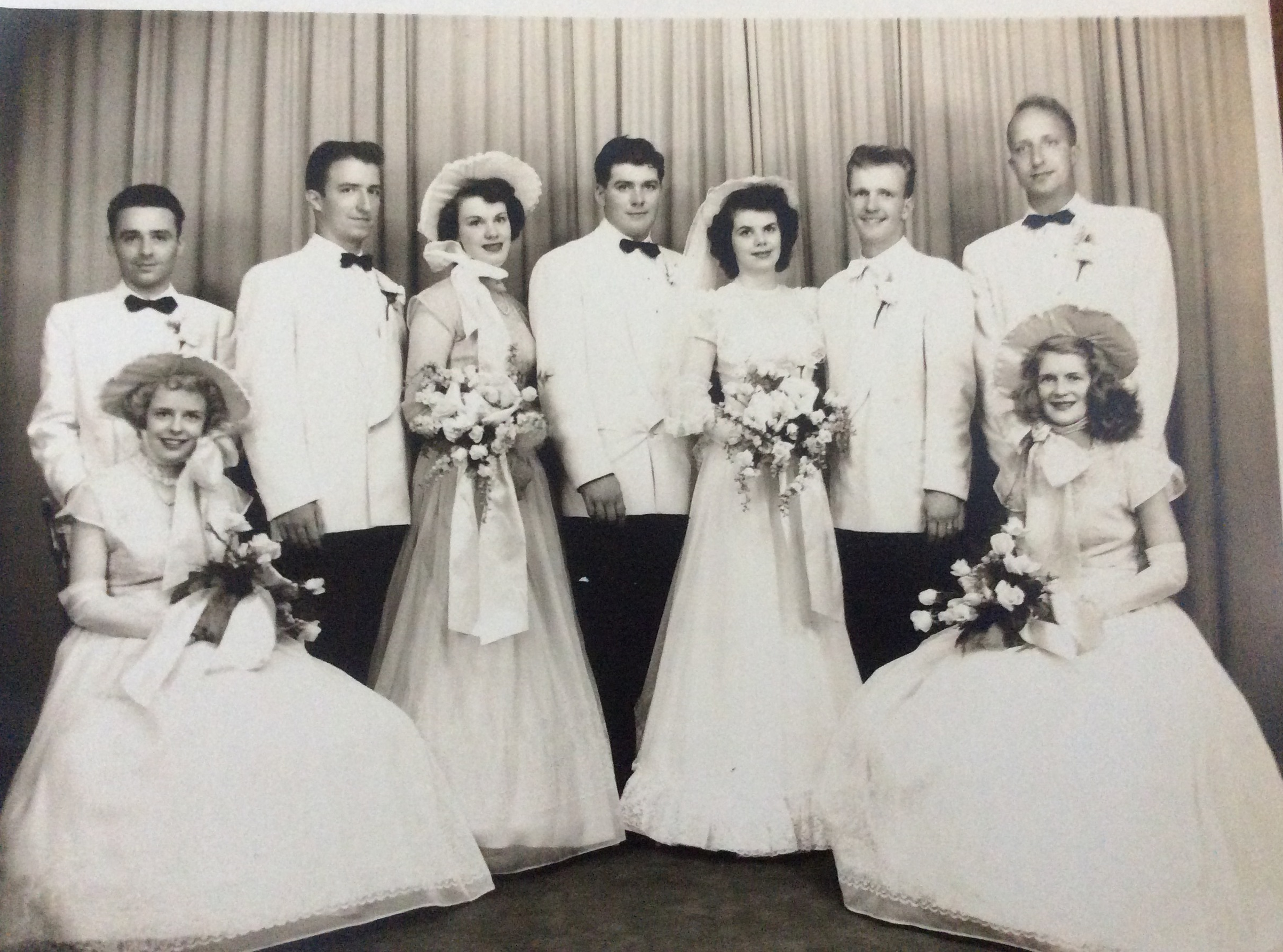 In Picture: Grandma Jane (prettiest one in the pic 4th from right) // Photog: Unknown Wedding Photographer