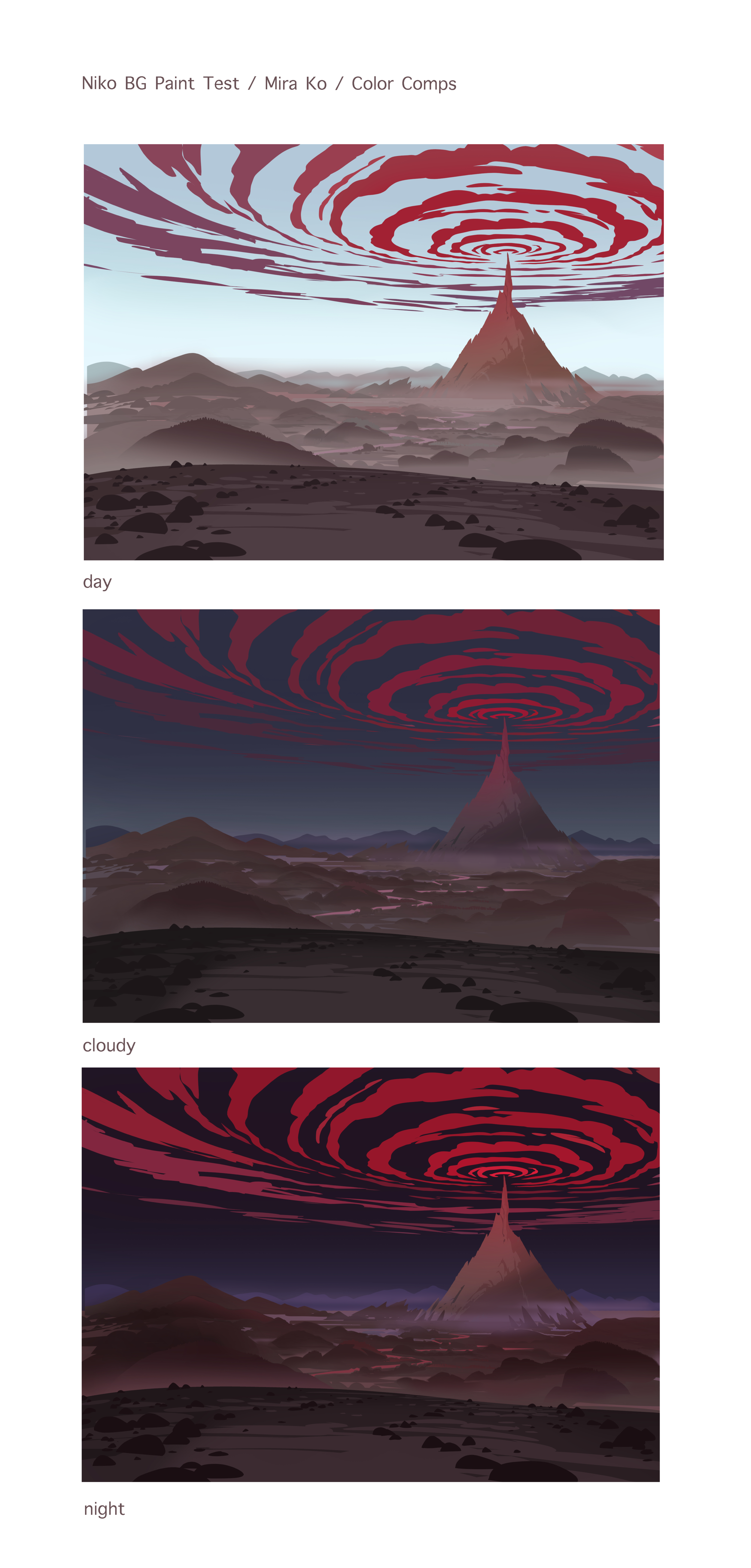 Background Paint Test for Niko and the Sword of Light - Color Comps