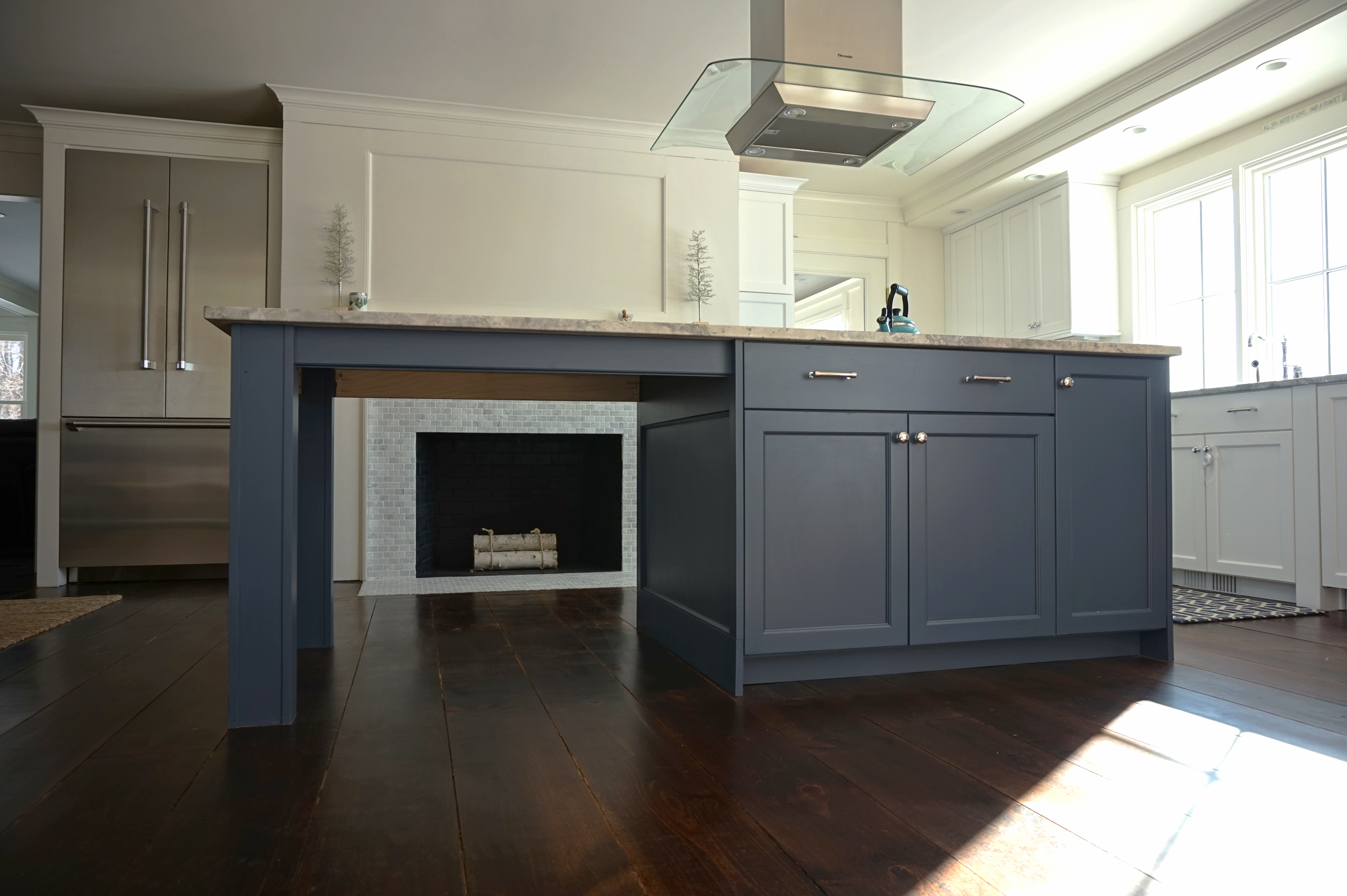 Kitchen Detail & Fireplace for Ridgefield CT Renovations
