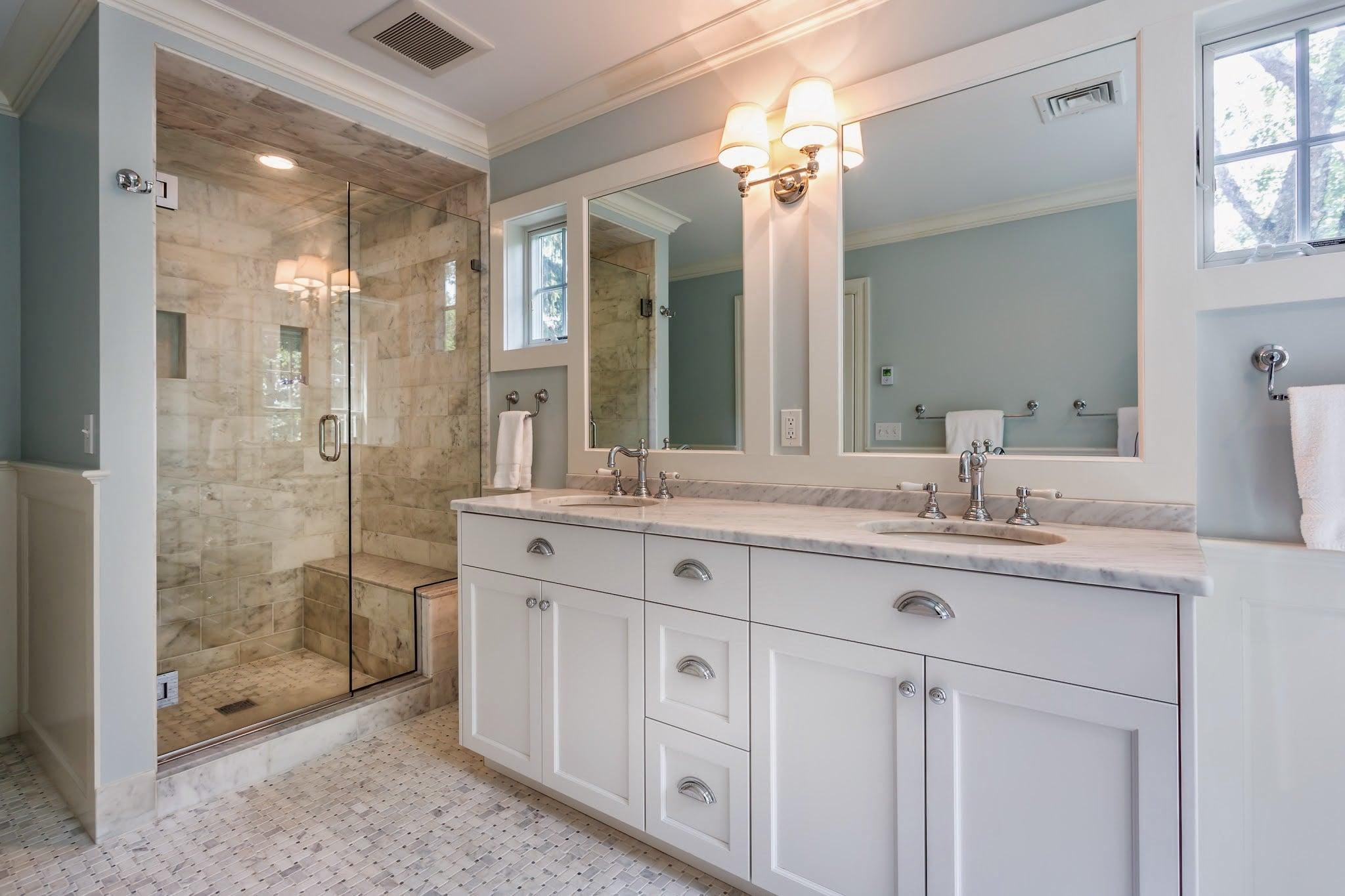 Renovated Master Bathroom & Shower in Darien CT