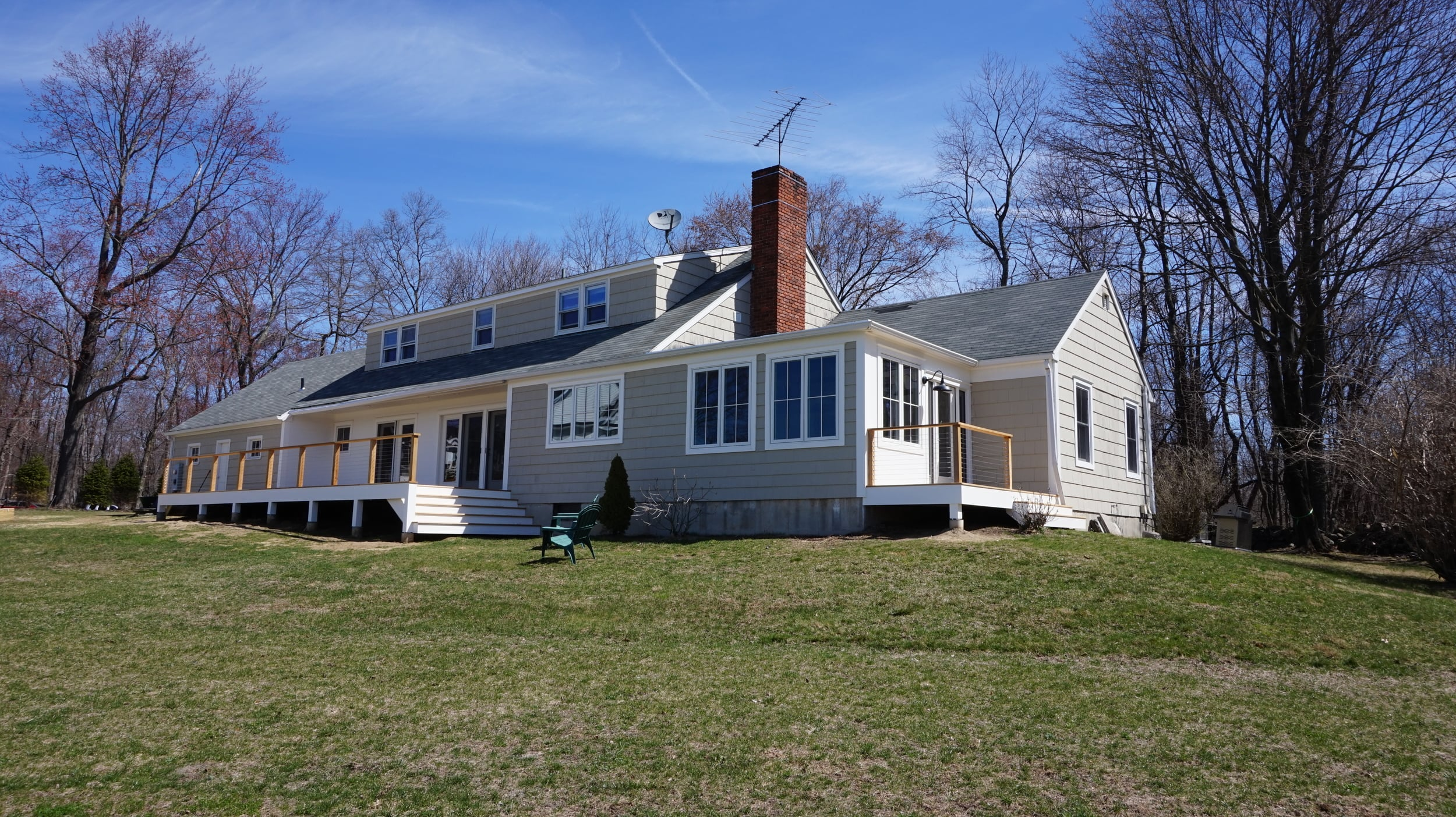 Newly Constructed Rear Decks in Ridgefield CT