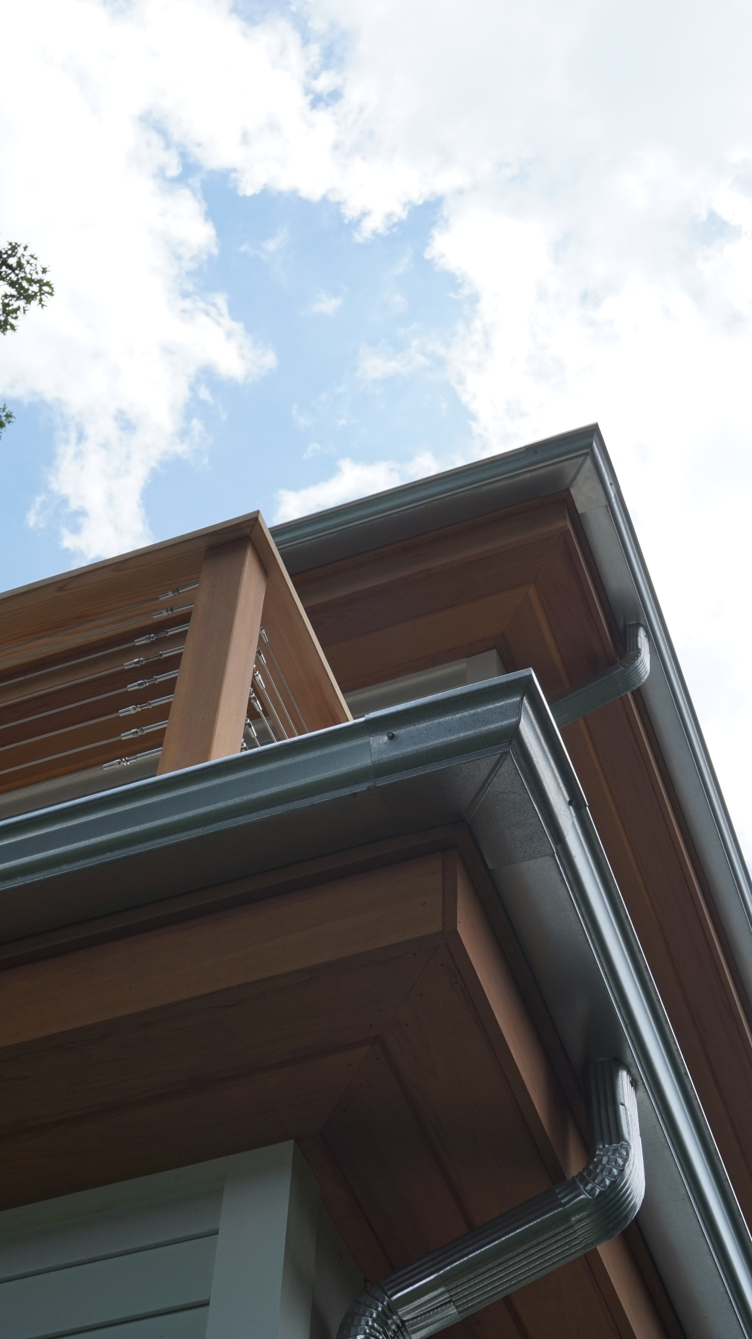 New Home Design Build Koala Residential -Galvanized Gutters