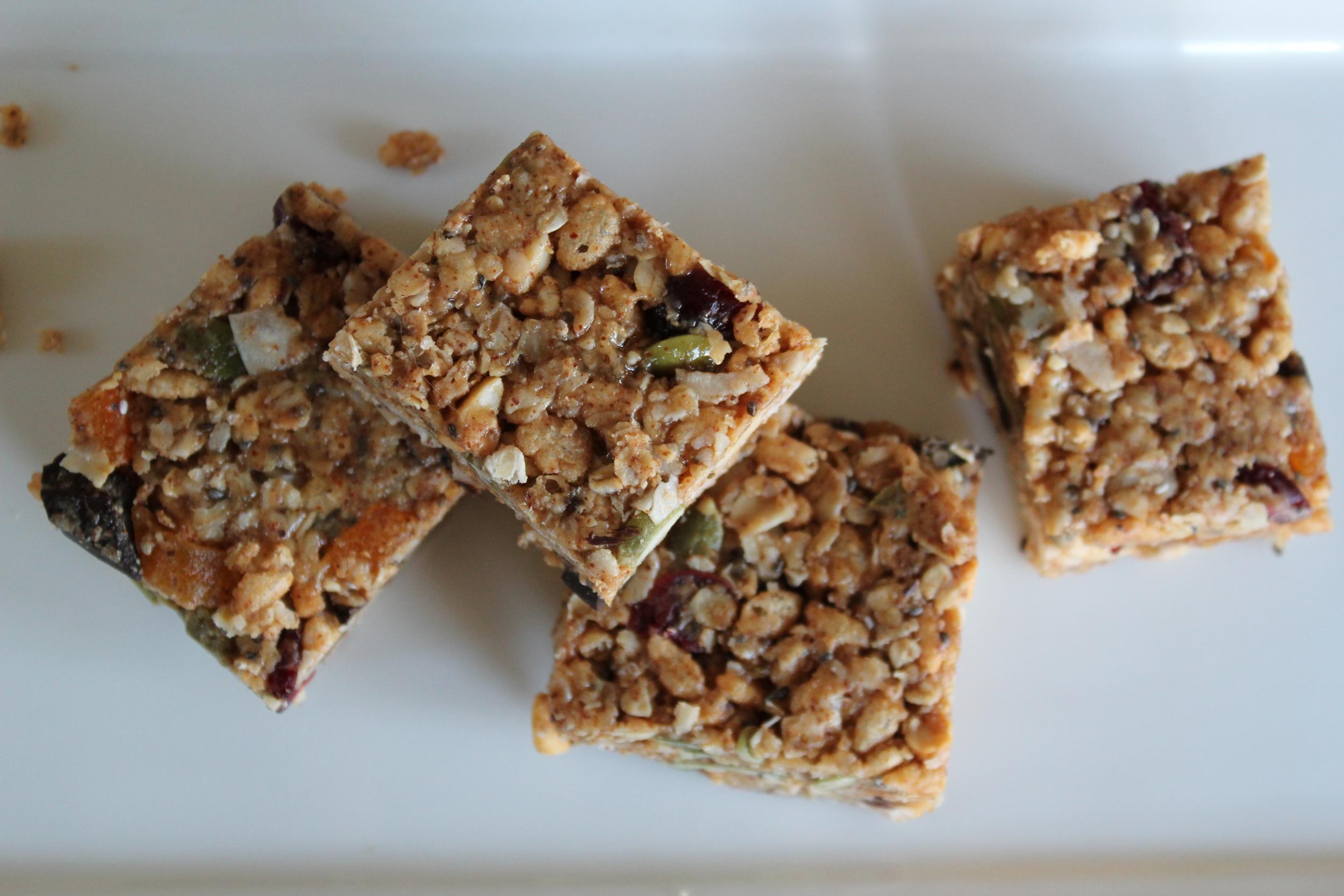 No-Bake Vegan Granola Bars