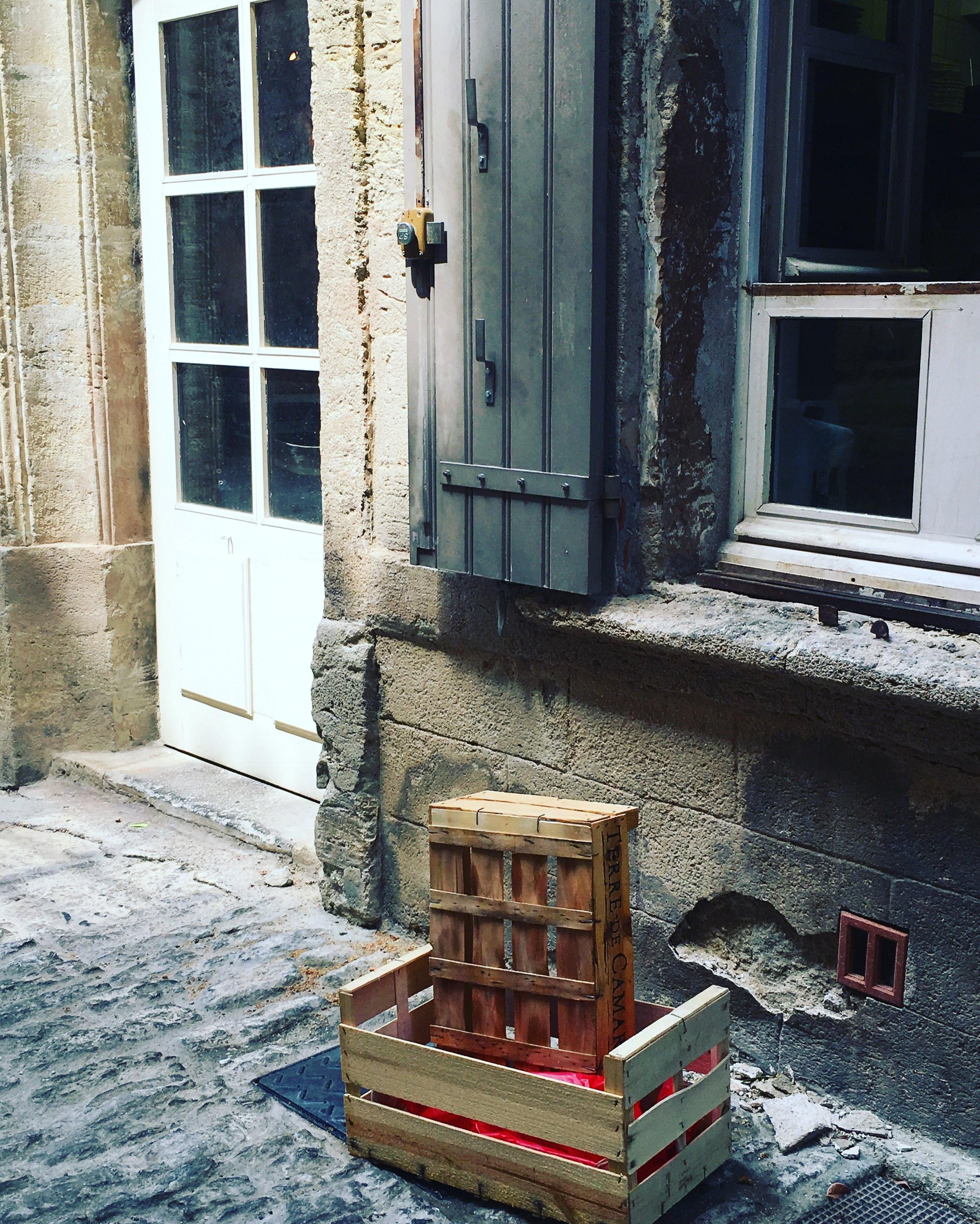 Back of a restaurant. Gordes, France