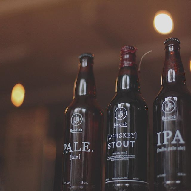 Tonight thru Sunday -- these beers + whiskey red and dry hopped farmhouse on tap at Stout Pub.  Join us tonight as the Burdick crew will be drinking and eating the massive amounts of food pairings with our beers.  Hope to see you.