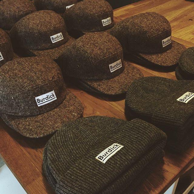 Crispy hats and beanies.  @delusionmfg