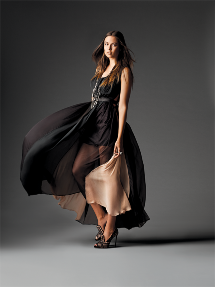 Megan Swansen's silk paneled gown was featured in Philadelphia Magazine's first ever   Fashion Project   competition.